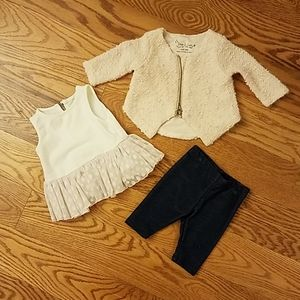 Pippa & Julie sweet baby girl sweater/legging set